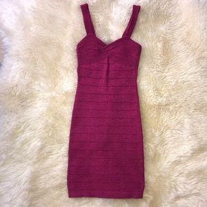 Beautiful, sexy hot pink BEBE dress